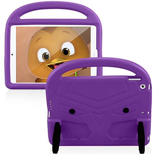 FAN SONG Funda para iPad 8ª/7ª Generación 10.2 2020/2019, Carcasa Niños Antideslizante Ligero Antigolpes Plegable con Soporte y Encargarse, Funda Protectora Infantil para iPad 7ª Generación 2019