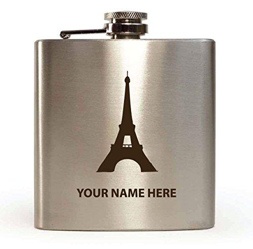Diseño de París–personalizado de petaca (con caja de regalo y embudo)