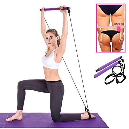 JADE4 - Kit portatile per pilates con fascia di resistenza, per allenamento in casa, palestra, fascia di resistenza con passante per piede, per yoga, stretching, per allenamento totale del corpo