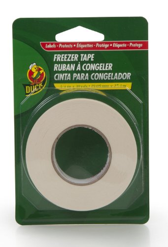 Duck Brand 280124 Write-On Freezer Tape, 3/4-Inch by 30-Yard, Single Roll, White