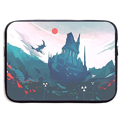 Fantasy Art Hexe reitet einen Besen Laptop-Hülle Fall Tasche Abdeckung für Computer 13 Zoll