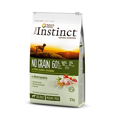 True Instinct No Grain - Nature's Variety - Pienso sin Cereales para Perro Adult Medium-Maxi con Pollo - 12kg ✅