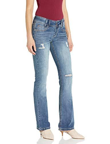 WallFlower Women's Instastretch Luscious Curvy Bootcut Jeans, Elaine, 9 Long