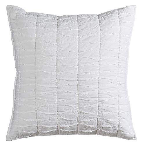 Ldk Garden Cojín drapeado Hecho a Mano Blanco de algodón Natural de 60x60 cm - LOLAhome