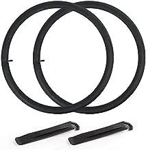 """LotFancy 27.5 Mountain Bike Tube, 27.5"""" x 1.75/1.95 Inner Tube, Schrader Valve (32mm), Plus 2 Nylon Plastic Tire Levers"""