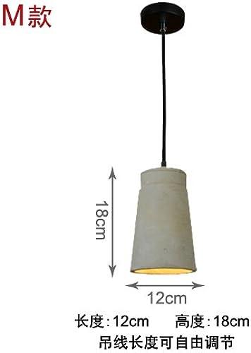 LuckyLibre Tête simple Loft Chambre Suspension CiHommest Bar Café Restaurant Cuisine couloir plafond Lustre Lampe éclairage,M