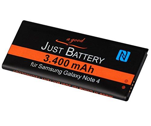 JuBaTec original Akku für Samsung Galaxy Note 4 SM-N910F mit NFC und 3400 mAh ersetzt EBBN910BB