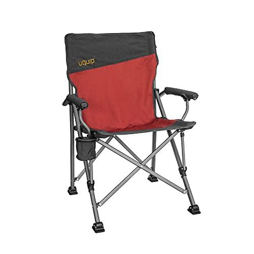 Uquip Roxy - Sedia da Campeggio con Portabottiglie, Capacità di carico Fino a 120 kg