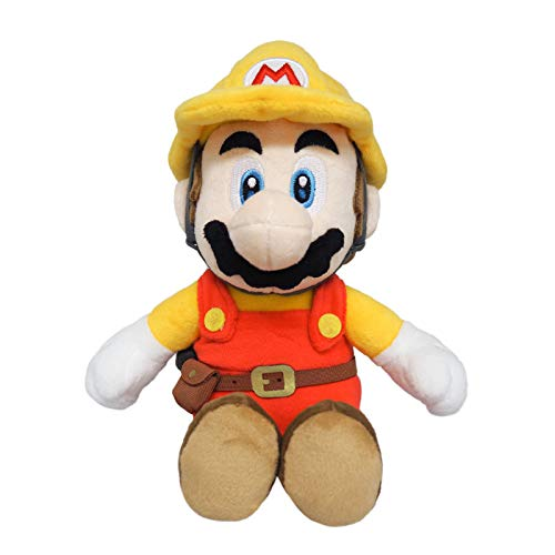 Little Buddy 1731 Super Mario Maker 2 - Builder Mario Plush, 9.5'