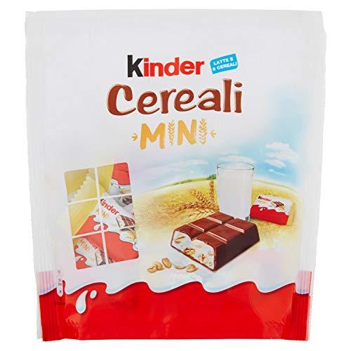 Kinder Mini Cereali Tavoletta di Cioccolato Ripieno, 18 Pezzi, 107g
