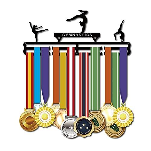CHENSHJI Esposizione di medaglie Gancio di medaglia Gancio di medaglia Gancio Sport Medaglia Espositore per medaglia (Colore : Black, Size : One Size)