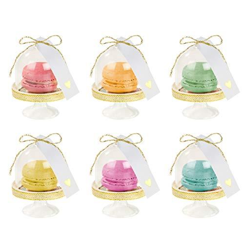 Talking Tables Pink-Dome Nous Cœur Rose Treat Dôme, Tag & Doily Set, 6Pk Plastique, Multicolore, 16,5 x 17,5 x 16,5 cm