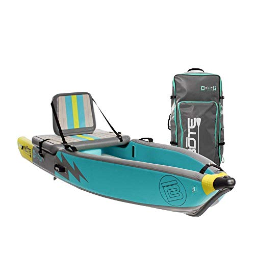 BOTE Deus Aero Inflatable Kayak & Stand Up Paddle Board with Accessories | Pump, Fin, Travel Bag, Native Citron