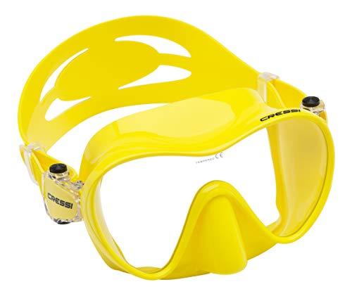 Cressi F1 Mask Máscara Monocristal Tecnología Frameless, Unisex, Amarillo, L