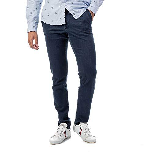 El Ganso 1020W170010 Pantalones, Marino, 40 para Hombre