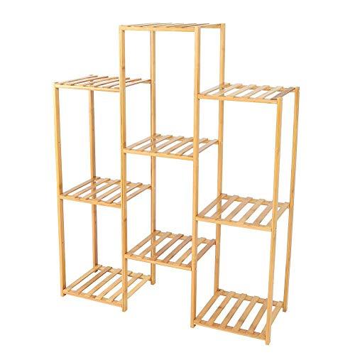 Plantenstandaard, meerlagige plantenstandaard potplanten plank indoor bloemenplank, balkonplank boekenplank (3 + 3 + 3 lagen)