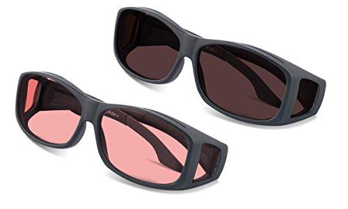 (Bundle) TheraSpecs WearOver Blue Light Glasses for Migraine, Light Sensitivity