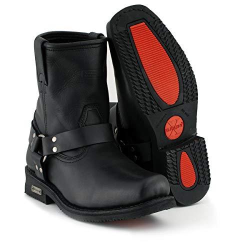 Xelement 1436 Men's Black Short Harness Motorcycle Boots - 11