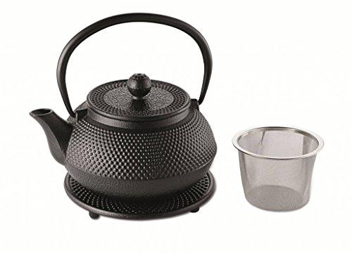 Weis 17944 Teekanne Gusseisen 1,1L mit Sieb und Untersetzer