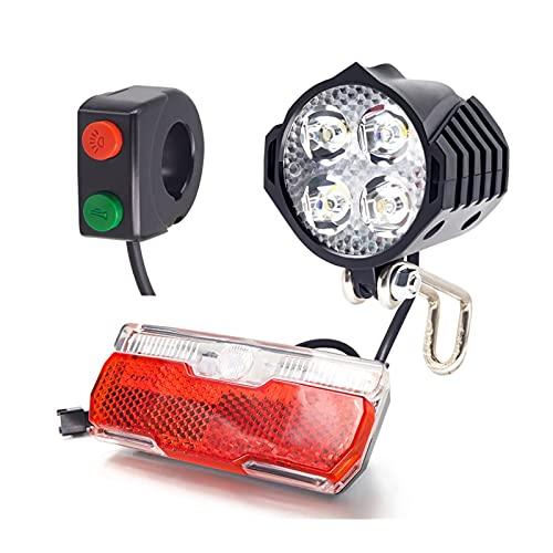 Stlei Store Frente de Bicicleta eléctrica y Conjuntos de luz Trasera de...