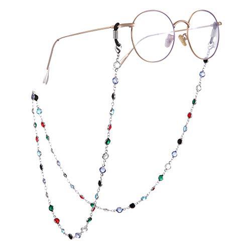 Fishhook - Soporte para gafas de sol con cadena para gafas de lectura, diseño de cadena con cuentas de colores