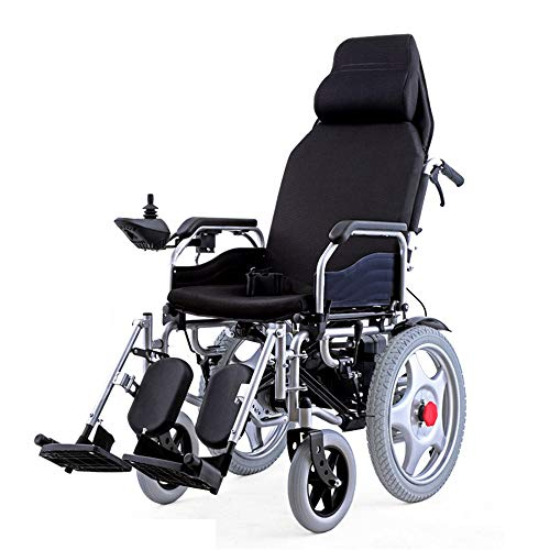 Best Buy! Heavy Duty Electric Wheelchair with Headrest,Foldable Folding And Lightweight Portable Pow...