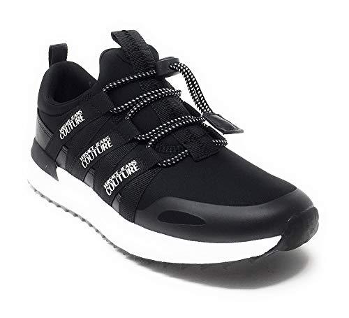 Versace Jeans Footwear Damen Linie Fondo Super Design 6 schwarz E0VUBSG671212899, Schwarz - Schwarz - Größe: 41 EU