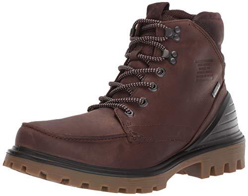 ECCO Men's TRED Tray Gore-TEX Moc Toe Ankle Boot, Cocoa Brown/Mocha Oil Nubuck, 44 M EU (10-10.5 US)