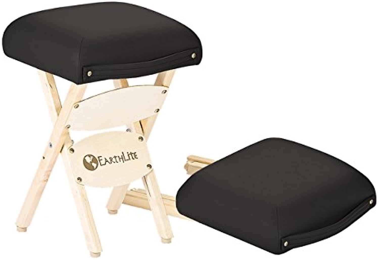 EARTHLITE Wooden Folding Stool - Hardwood Maple, CFC-Free, Massage Table Medical Spa Facial Salon Chair