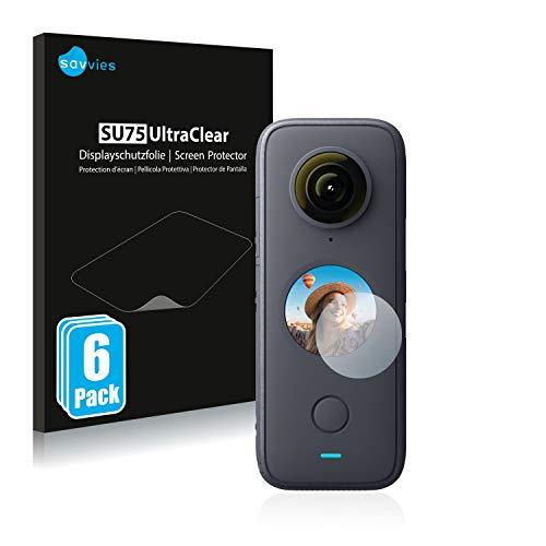 Savvies 6X Schutzfolie kompatibel mit Insta360 One X2 Bildschirmschutz-Folie Ultra-transparent