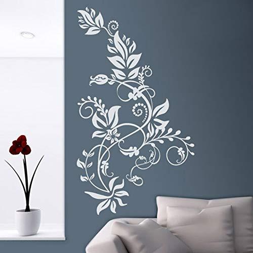 mlpnko Wandaufkleber Blume.Ideal Wohnzimmer Schlafzimmer oder Flur Vinyl Applique vertikale dekorative Florale Wandmalerei 42x71cm