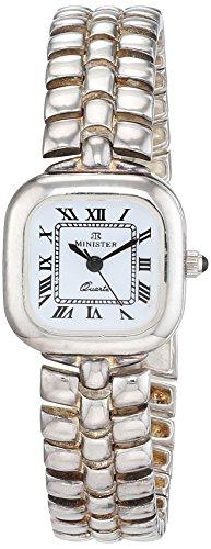 Minister Reloj Análogo clásico para Mujer de Cuarzo con Correa en Plata 7070