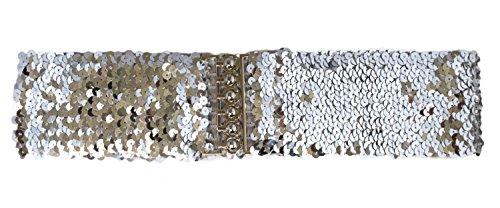 Sucre Belts Damen Kristallschnalle Gürtel Silber silber