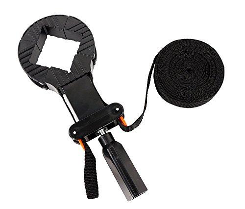 Mollytek ベルトクランプ 6m木工用バンド ストラップ フォトフレーム 固定 工具 調節可能なベルト DIY 工具 クランプ クイックリリースレバー付き