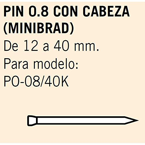Cevik MCMINIBRAD825 Pin 0,8 met lange kop 25 mm doos met 14 duizenden