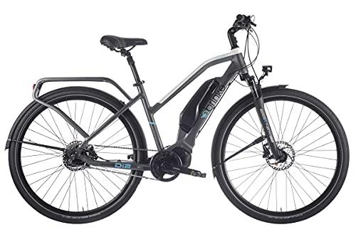 Brinke Bicicletta Elettrica E-Bike Rushmore Evo Comfort 50 M Di2 Motore Shimano E7000 Batteria 500Wh Grigia