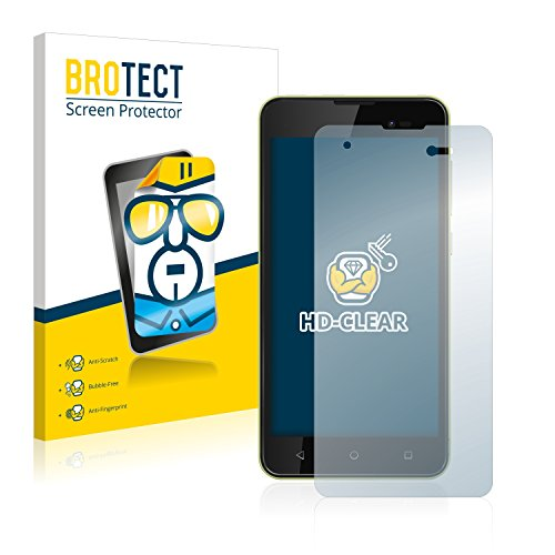 BROTECT Schutzfolie kompatibel mit Wiko Sunny 2 Plus (2 Stück) klare Bildschirmschutz-Folie