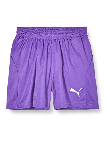 PUMA Kinder LIGA Core Shorts, Prism Violet White, 140