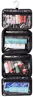 All-Purpose Household Travel Organizer Accessory Toiletry Cosmetics Makeup Hanging Shaving kit Bag-Black