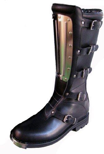 Kochmann Cross Stiefel schwarz 46 Motorradstiefel Metallplatte echtes Rindleder