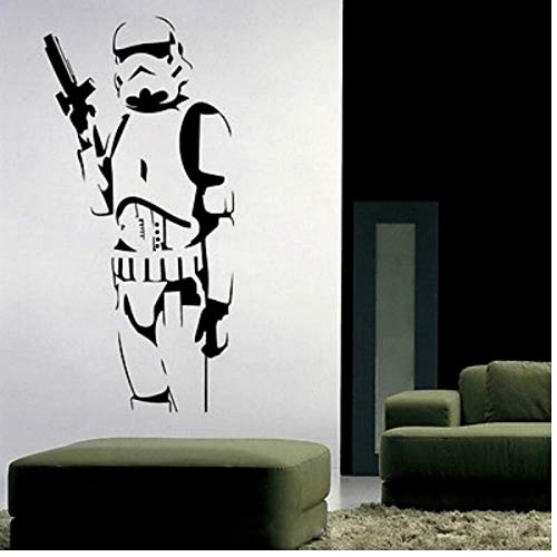 Wall Sticker Commando Star Wars Vinile murale della Decalcomania smontabile Fai da Te Home Decor