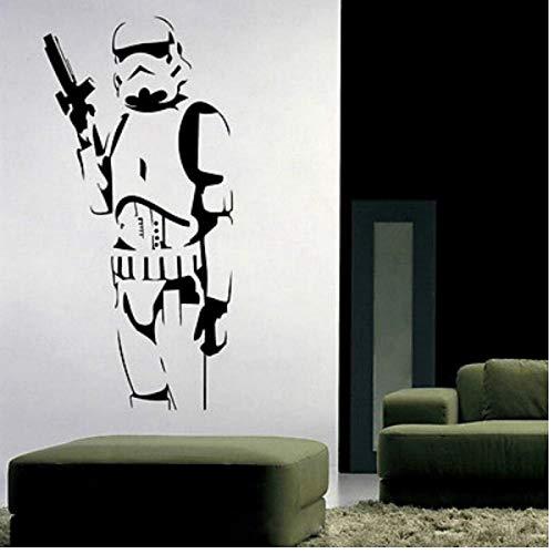 Gamloious Stormtrooper de Star Wars Etiqueta de la Pared del Vinilo Mural Desmontable Etiquetas de DIY Decoración