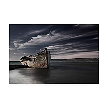 Trademark Fine Art Final Destination Boat by Bragi Ingibergsson 30x47