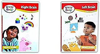 Brainy Baby Creative and Logical Thinking Right Brain and Left Brain Set of 2