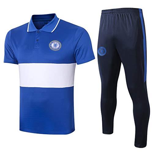 H.ZHOU Camiseta de fútbol Uniforme de fútbol de Entrenamiento de Manga Corta Europea Club de fútbol Masculino, fútbol Jersey, Aficionados de formación Deportiva de KK-035 Traje Deportivo (Size : XL)