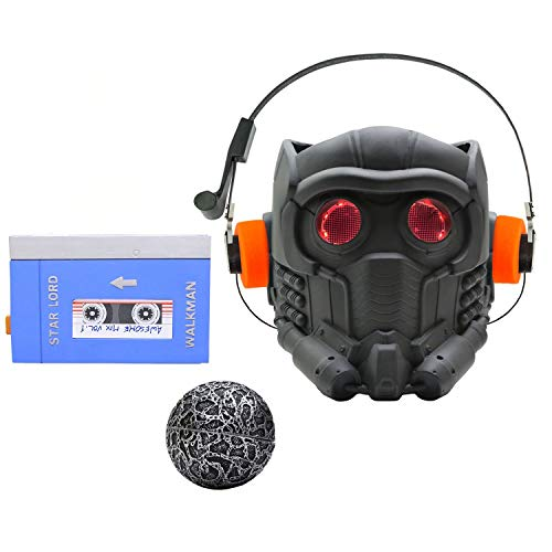 xcoser Newest Guardians Star Cosplay Lord Light Up Lifesize V6.1 PVC Painted Helmet Mask Adult Set