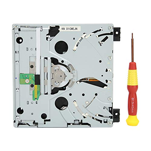 cigemay Game Console CD Drive, Professional Game Drive Dual IC Disc Repair Part, Replacement DVD Kit, CD‑ROM Driver with Screwdriver, Easy Installation, for Nintendo for Wii D2E Console