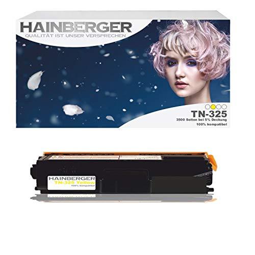 Hainberger Toner Yellow für Brother TN 325 Yellow 3.500 Seiten, kompatibel zu TN 320 / 325 / 328. Geeignet für Brother DCP-9055 Brother DCP-9055 CDN 9270 9270 CDN Brother HL 4140 CN 4150 CDN 4570 CDW 4570 Cdwt 9460 9460 CD 9460 CDN 9460 N 9465 9465 CDN 9970 9970 CDN 9970 CDW