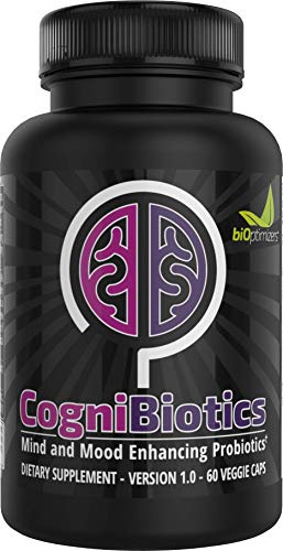 Cognibiotics - Brain and Mood-Enhancing Probiotic - Anxiety and Stress Relief - Brain Supplement - Mood Booster - Experience Better Focus, Memory, and Mental Clarity - 60 Capsules