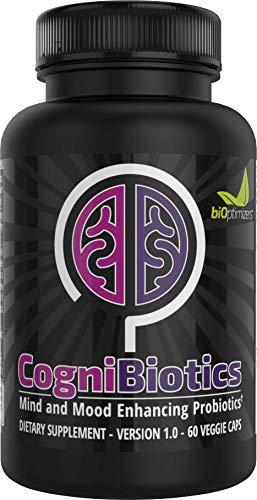 CogniBiotics - A Formula of 9 Strains of Probiotics and Supporting Prebiotics (60 Capsules)